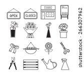 flower shop | Shutterstock .eps vector #266307962
