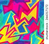 bright garffiti seamless... | Shutterstock .eps vector #266317172