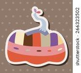 style pumpkin cartoon elements... | Shutterstock .eps vector #266323502