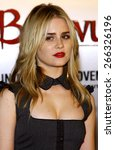 """Small photo of Alison Lohman attends the Los Angeles Premiere of """"Beowulf"""" held at the Westwood Village Theater in Westwood, California, United States on November 5, 2007."""