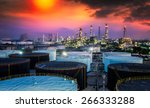 landscape of oil refinery... | Shutterstock . vector #266333288