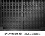 antique slide steel locked... | Shutterstock . vector #266338088