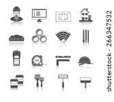 architecture  interior design... | Shutterstock .eps vector #266347532