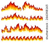 flames of different shapes on a ... | Shutterstock .eps vector #266348165