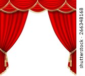 theater stage  with red curtain.... | Shutterstock .eps vector #266348168