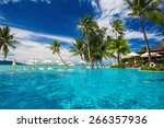 large infinity swimming pool on ... | Shutterstock . vector #266357936