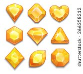 set of yellow crystals with...
