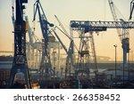 Port Of Hamburg On The River...