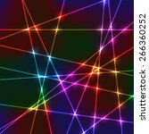 neon laser grid with random... | Shutterstock .eps vector #266360252