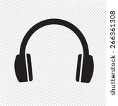headphones icon | Shutterstock .eps vector #266361308