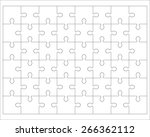 white puzzle  vector... | Shutterstock .eps vector #266362112