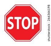 stop sign | Shutterstock .eps vector #266366198