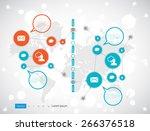 timeline infographics. vector...   Shutterstock .eps vector #266376518
