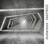 abstract illuminated empty bent ... | Shutterstock . vector #266378222