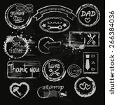 father s day decoration stamp... | Shutterstock .eps vector #266384036