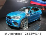 new york   april 1  bmw exhibit ... | Shutterstock . vector #266394146