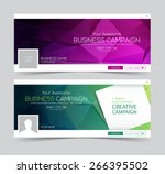 two abstract business banner... | Shutterstock .eps vector #266395502