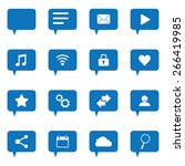 set of icons for messages | Shutterstock .eps vector #266419985
