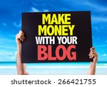 make money with your blog card...   Shutterstock . vector #266421755