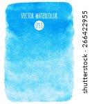 sky blue watercolor vector... | Shutterstock .eps vector #266422955
