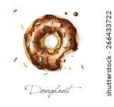 Doughnut   Watercolor Food...