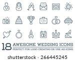 Set Of Vector Wedding Love...