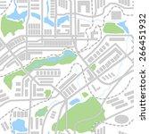 city map seamless pattern.... | Shutterstock .eps vector #266451932