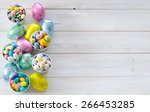 colorful easter candies on a... | Shutterstock . vector #266453285