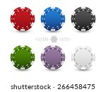 set of casino chips | Shutterstock .eps vector #266458475