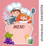 kids menu template | Shutterstock .eps vector #266460356