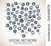 social network   Shutterstock .eps vector #266468078