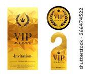 vip party premium invitation... | Shutterstock .eps vector #266474522