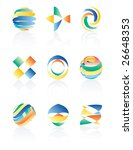 vector abstract forms for... | Shutterstock .eps vector #26648353