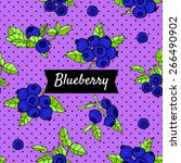 pattern with blueberries | Shutterstock .eps vector #266490902