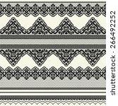 set of vintage lace borders.... | Shutterstock .eps vector #266492252