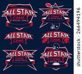 set of vintage sports all star... | Shutterstock .eps vector #266494196