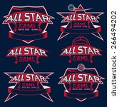 set of vintage sports all star... | Shutterstock .eps vector #266494202