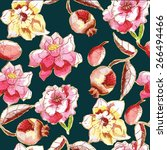 seamless pattern with...   Shutterstock .eps vector #266494466