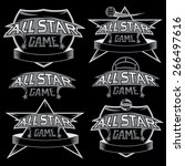set of vintage sports all star... | Shutterstock .eps vector #266497616