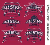 set of vintage sports all star... | Shutterstock .eps vector #266499626