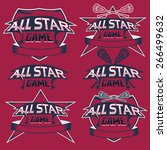 set of vintage sports all star... | Shutterstock .eps vector #266499632