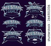 set of vintage sports all star... | Shutterstock .eps vector #266501336