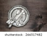 Antique Silver Cutlery On...