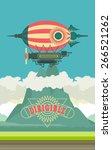 vector illustration aircraft... | Shutterstock .eps vector #266521262