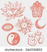 spiritual symbols | Shutterstock .eps vector #266530802