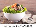 fresh salad in bowl | Shutterstock . vector #266534822