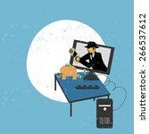 virtual robbery concept | Shutterstock .eps vector #266537612