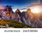 great view of the top cadini di ... | Shutterstock . vector #266538086