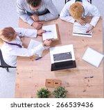 medical team discussing... | Shutterstock . vector #266539436