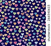 seamless pattern with love  ... | Shutterstock .eps vector #266540615